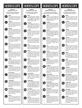 Newspaper Toolbox horoscopes, games and recipes example 04