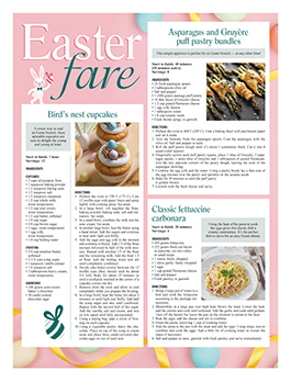 Newspaper Toolbox horoscopes, games and recipes example 06