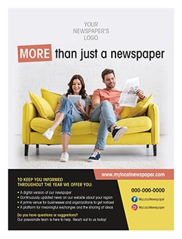 Newspaper Toolbox promotional ad example 04